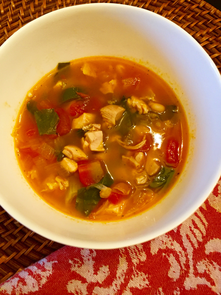 spicy white bean and chicken soup