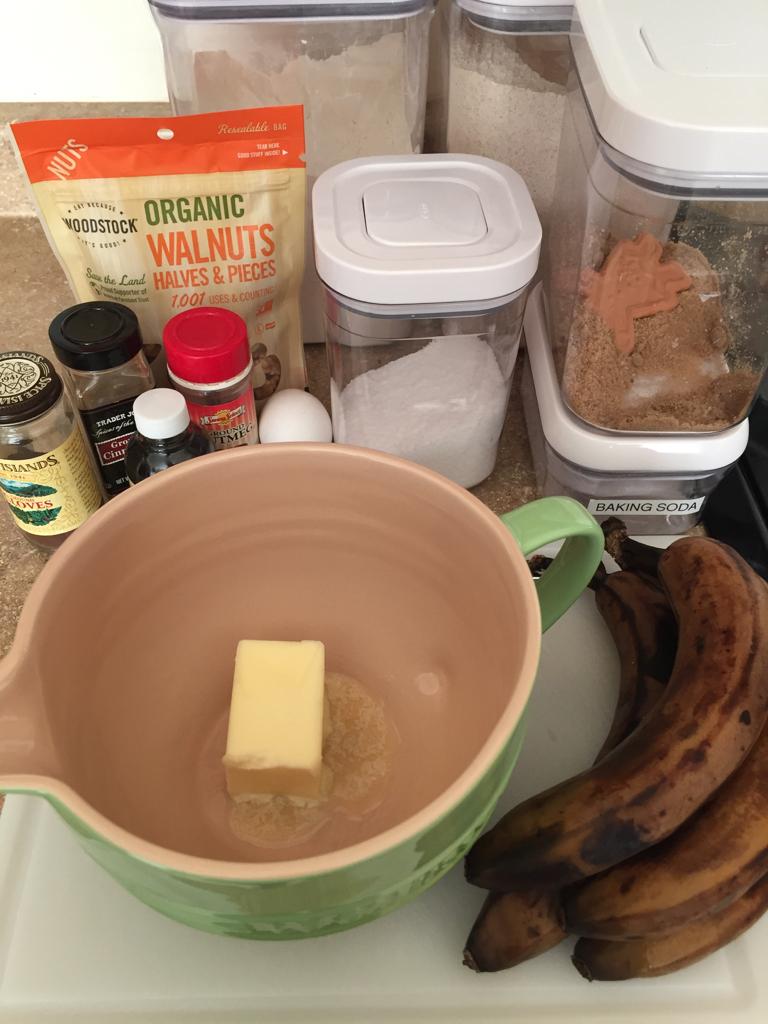 banana bread set up