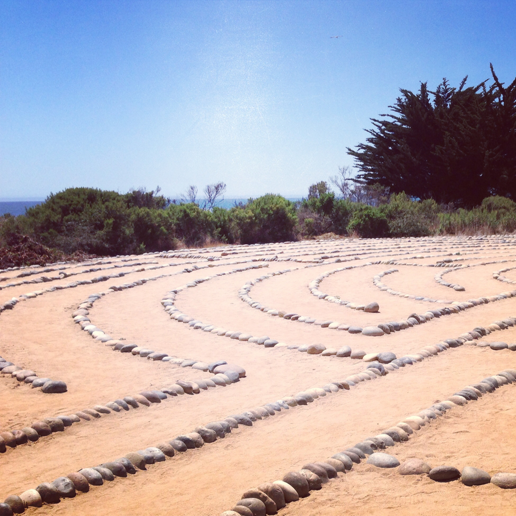 labyrinth trail at lagoon island ucsb