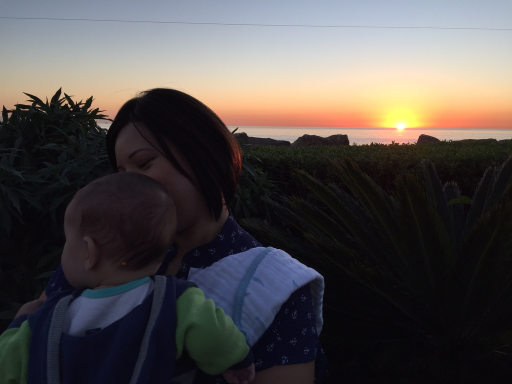 Sunset with my son