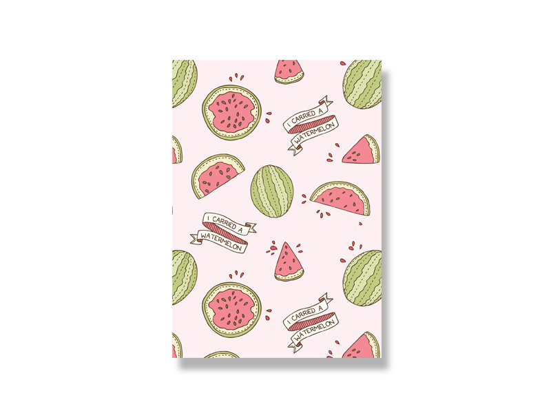 I Carried a Watermelon mini print