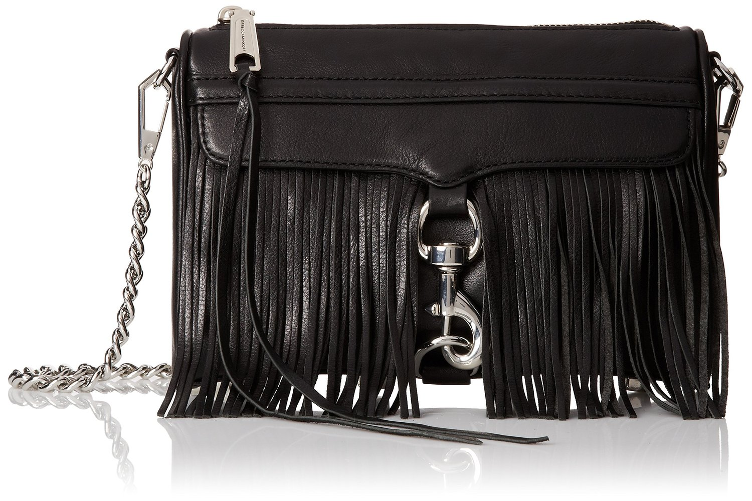 rebecca minkoff black leather mini mac bg