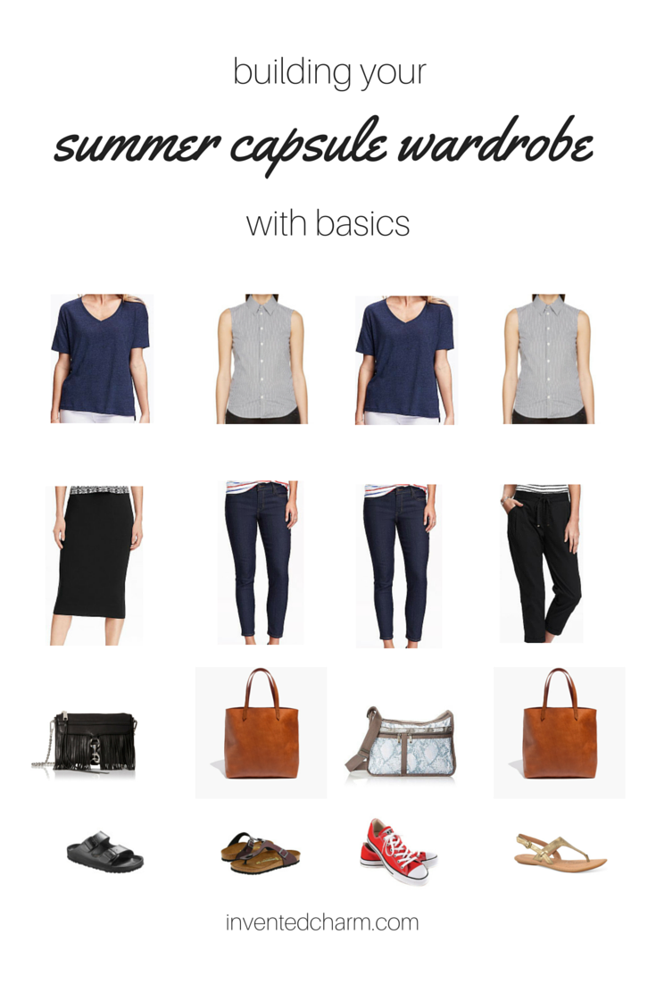 building your summer capsule wardrobe with basics.