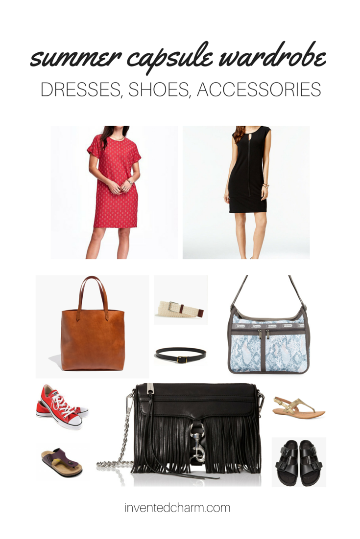 dresses shoes accessories summer capsule. building your capsule wardrobe with basics.