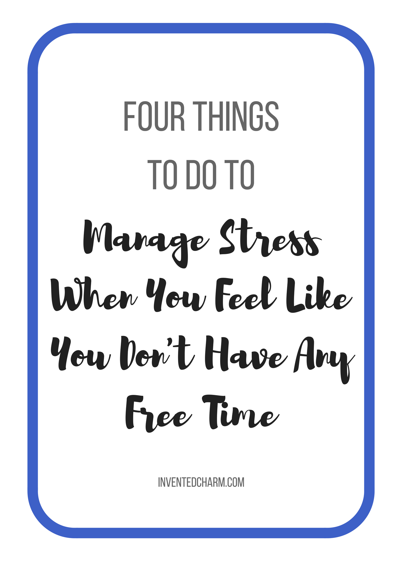 four-things-to-manage-stress