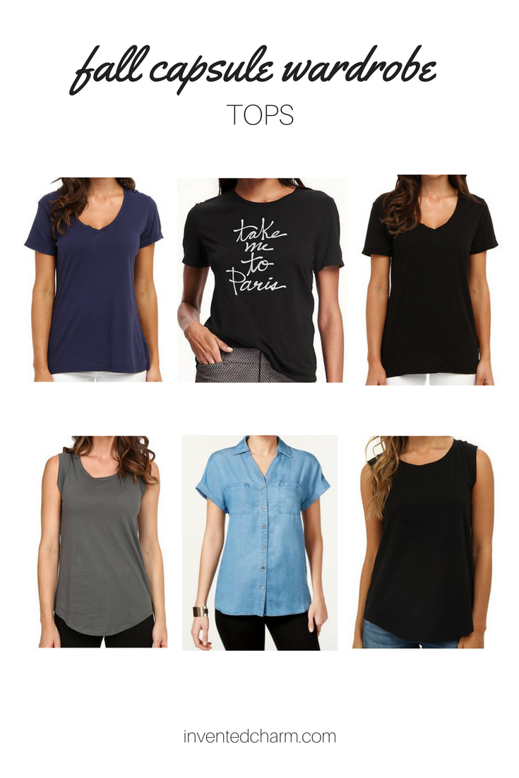 tops for a transitional fall capsule wardrobe