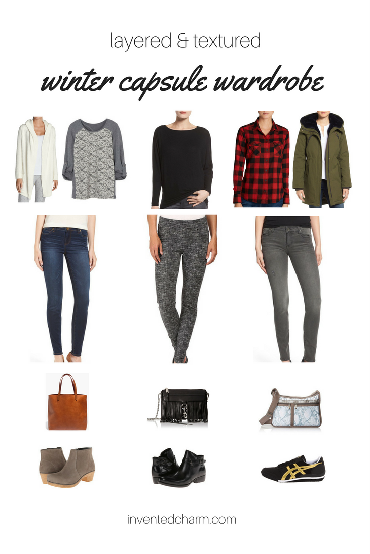winter capsule wardrobe layered and textured
