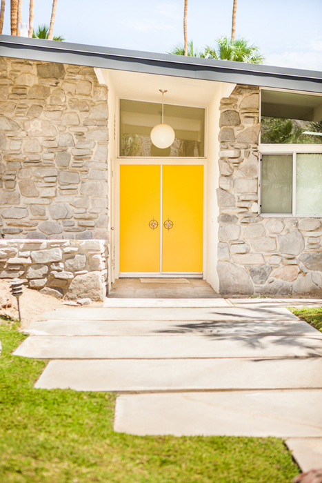 Mid century modern bohemian contemporary house invented - Mid century front door ...