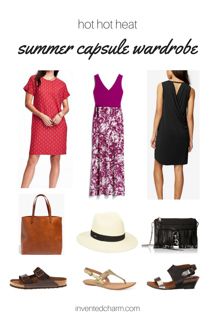 a capsule wardrobe for hot hot heat